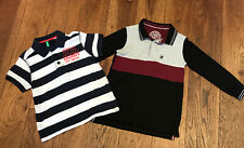 2 x Boys Polo Shirts Age 4-5 Benetton And Matalan Excellent Condition