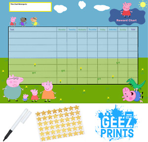 Peppa Pig Reward Behaviour Chart Free Pen & Stickers, Free P&P!