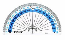 Helix 180 Degree Protractor School Protractor Semi Circle 10cm New H01040