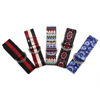 Yoga Band Durable Cotton Exercise Strap Adjustable D-Ring Buckle Flexibility BH