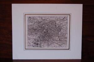 Mappa della città di Roma incisione originale su rame, Scotus