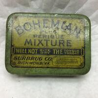 Vintage Tin ONLY Bohemian Plug Perique Mixture Surbrug Co. Richmond, VA