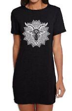 Goat Of Mendes Baphomet Mandala Women's T-Shirt Dress