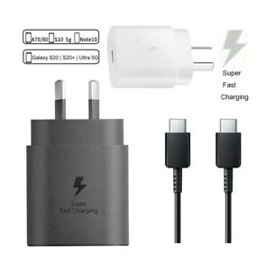 Genuine Samsung S21 S20 Plus Note 20 Ultra Super Fast Wall Charger 25W USB-C