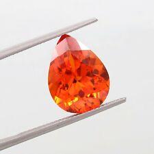 Natural Flawless Ceylon Orange Fanta Sapphire Pear Loose Cut Gemstone 8.60 Ct