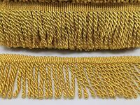 BULLION FRINGE TRIM, GOLD COLOUR, 7.5CM WIDE, CLEARNCE PRICE