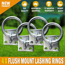 4 X Flush Mount Lashing Rings Zinc Plated Tie Down Point Horse Float Trailer