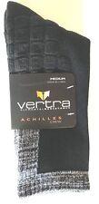 VERTRA 2-PAIR ELEMENTAL RESISTANCE ACHILLES SOCKS BLACK/GRAY SZ MD FIT 4-8 SHOE