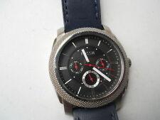 Fossil men's chronograph blue leather band.Quartz,battery Analog watch.Fs-4572