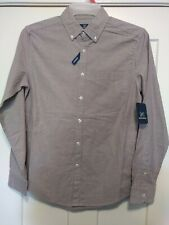 Mens SZ Small Slim Fit Oxford Shirt Blue Stripe Combo! Sku#48