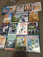 🔥17 Dvd Lot Recess Kim Possible Doc Mcstuffins Disney Dogs Happy Feet Kermit &&