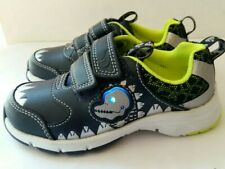 New CLARKS BOYS DINOSAUR THEME CASUAL LIGHTS  LEATHERS TRAINERS SHOES UK 7-12.5