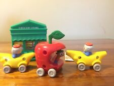 Richard Scarry Busytown Lowly Worm Apple Banana Car Vehicles Post Office Store