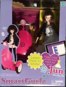 SMARTGURLZ CODING PINK SIGGY SEGWAY ROBOT W/ JUN DOLL FOR GIRLS STEM SEALED BOX