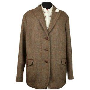 Harris Tweed Ladies Tailored Jacket Blazer - sz UK 24 PRISTINE GARMENT