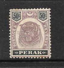 PERAK  1895  50c  TIGER      MH   SG 75