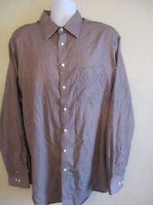 Merona Men's Dress Shirt Size 18-18 1/2 or XXL Maroon.