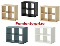 IKEA STORAGE DISPLAY UNIT SHELVING BOOKCASE KALLAX 77x77 CMs IN VARIOUS COLOUR *