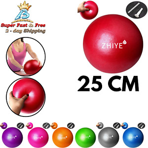 Improves Balance Inflatable Straw at Home or Gym or Office Yoga Pilates Exercise Ball Mini 9.8 Inch for Stability Balance Training for Core Training Physical Therapy
