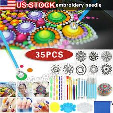 35Pcs/Set Mandala Dotting Tools Rocks Painting Kits Dot Art Paint Pen Supplies