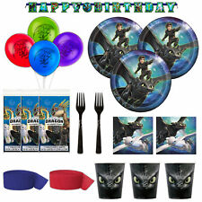 How To Train Your Dragon The Hidden World Birthday Deluxe Dinner Set-Serves 24