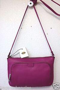 Fossil Riley Leather Mini Bag Fuchsia ZB6448690 NWT