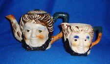 Vintage Japan Tea Set Lot of 2 Woman Tea Pot & Creamer