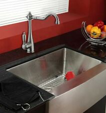 BRUSHED NICKEL SINGLE LEVER KITCHEN SINK BASIN MIXER TAP SWIVEL SPOUT FAUCETS