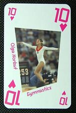 1 x playing card London 2012 Olympic Legends Olga Korbut Gymnastics 10H