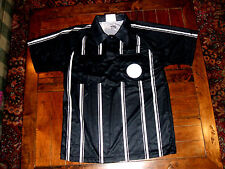 Black and White Soccer Referee Jersey Adult Medium KwikGoal Brand EXC Hook Loop