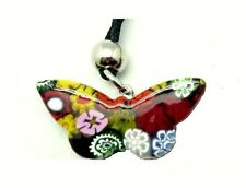 Butterfly necklace 5cm/2Inches pendant craft MURANO glass by MORBIDEIDEE