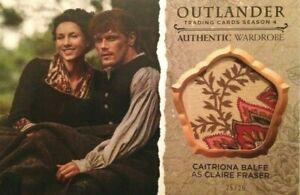 Cryptozoic Outlander Trading Card Oversized Wardrobe OS-M03 Claire Fraser 25/25!