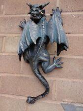 Gargoyle Wall Sculpture Gothic Medieval Art Out Door Patio Garden Statue Decor