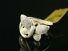 LADIES/WOMENS BUTTERFLY FASHION DIAMOND RING 10k .50 C