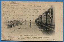 CPA: MAROC BENI OUNIF - La musique de la Légion salue le GAL O' CONNOR / Train