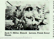 101 Ranch Letters on Colonel Joseph C Millers' Saddle
