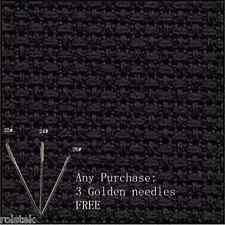 $(Free Bonus)+100% cotton top quality 14CT Aida Cloth Cross stitch Fabric-Black