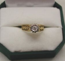1970's Vintage 18ct Gold Diamond Solitaire Ring