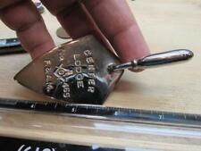 Masonic Mason Trowel Center Lodge No 465 Medal Fraternal    (19K2)