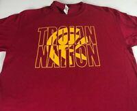 Trojan Nation T-Shirt Adult SZ M/L Student Alumni Troy USC Lassiter Mens Womens