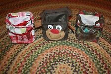Lot of 3 Thirty One Little Carry all Caddy Aindsor Argyle Reindeer Holiday Nwot