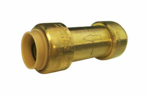 ProLine  1/2 in. Push   x 1/2 in. Dia. Push  Brass  Check Valve