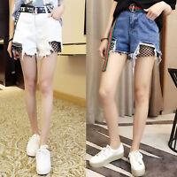 Cool Womens Korean loose Denim Culotte Casual Skirt High-Waisted Slim Pants HP68