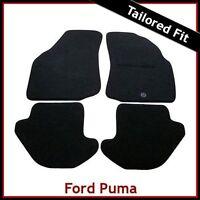 FORD PUMA 1997-2002 Tailored Carpet Car Floor Mats BLACK