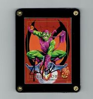 Joe Jusko Signed Marvel Masterpieces 1992 Green Goblin Screwdown Display.