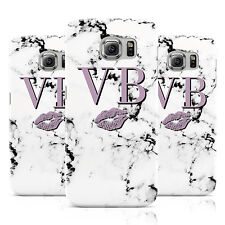 PERSONALISED LIPSTICK KISS INITIALS MARBLE PHONE CASE COVER FOR SAMSUNG GALAXY