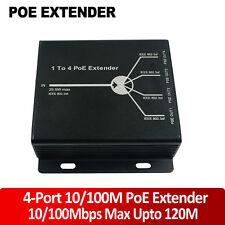 10/100M 4 Ports PoE Extender Up to For Network AP IP Camera Telephone Equipment.