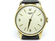 LONGINES Vintage Caliber 12.68ZS Mechanical Men 9k. Y Gold Watch Longines Box