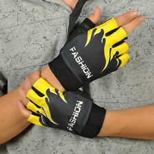 Sports Cycling Bike Bicycle Motorcycle Gel Half Finger Fingerless Gloves New UK