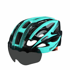 RockBros Cycling Helmets Road Bike MTB Helmet With Black Goggle Size L/XL Blue